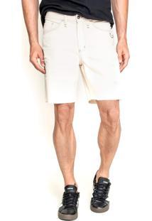 Bermuda Dialogo Jeans Slim Off White