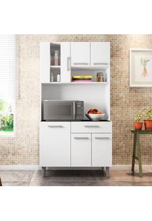 Cozinha Compacta Com Tampo Carol - Poliman - Branco