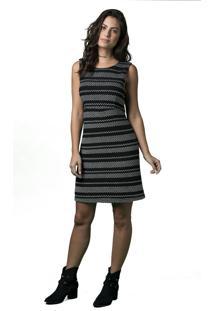Vestido Marcia Mello Tweed Bllevue Preto