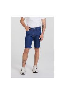 Bermuda Hering Jeans Slim Azul