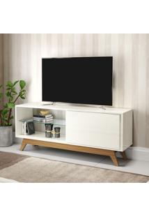 Rack Para Tv 1 Porta 140 Cm R414 Wj Off White/Freijo - Dalla Costa
