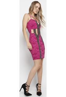 Vestido Strappy Em Renda- Pinkmax Glamm