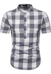 Camisa Xadrez Galway - Cinza