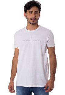 Camiseta Minha Essência Gola Redonda Thiago Brado 1107000006 Branco