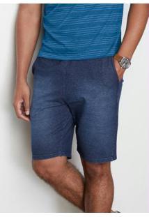 Bermuda Azul Escuro Comfort Moletinho Malwee