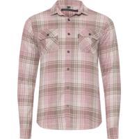Camisa Algodao Bege masculina  98354304126db