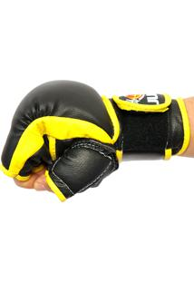 Luva Jugui Mma Profissional Treino Competição Vale Tudo Amarelo