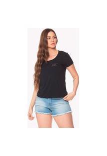 T-Shirt Daniela Cristina Dc Gola U Profundo 602Dc10393 Preto
