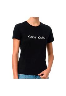 Camiseta Calvin Klein Gola Careca Preto