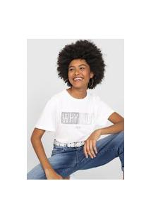 Camiseta Colcci Why Not Branca