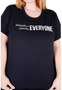 Camiseta Preta Judging (, Gg)