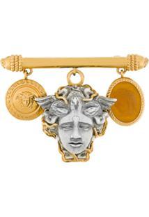 Versace Broche 'Medusa' - Metálico