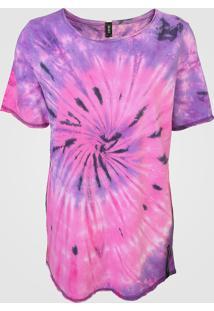 Camiseta Dimy Tie Dye Rosa - Kanui
