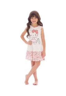 Camisola Infantil Hello Kitty - Feminino-Branco