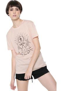 Camiseta Vans Boyfriend Wm Verses Bege