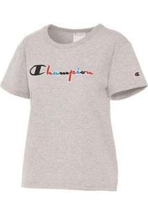 Camiseta Champion Script 3 Cores Gt92 Feminina - Feminino