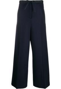 Jil Sander Drawstring Straight-Leg Trousers - 402 Dark Blue
