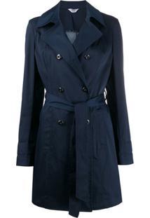 Liu Jo Trench Coat Com Cinto - Azul