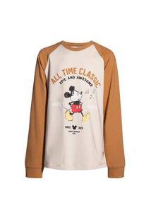 Camisa Infantil Menino Raglan Mickey And Friends