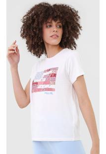 Camiseta Polo Ralph Lauren Bordada Branca - Branco - Feminino - Algodã£O - Dafiti