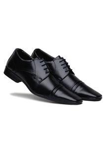 Sapato Social Masculino Calce Fácil Conforto - Preto