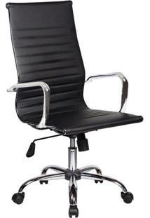 Cadeira De Escritório Presidente Giratória Eames Best Preta