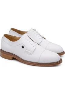 Sapato Social Couro Jacometti Passeio Masculino - Masculino-Branco