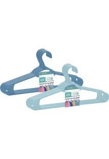 Conjunto De Cabides Dasplast Plástico Sustentável Azul Leve 6 E Pague 5