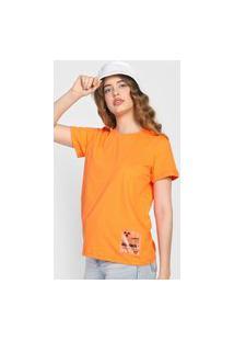 Camiseta Colcci Tag Laranja