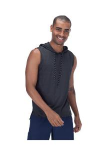 Camiseta Regata Com Capuz Oxer Hood - Masculina - Preto