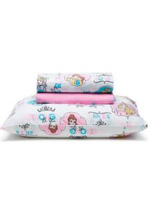 4f505f8da7 Jogo De Cama Infantil 3 Peã§As Disney Light Princess Power Santista