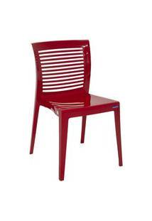 Cadeira Monobloco Victória Vermelha 92041040 Tramontina