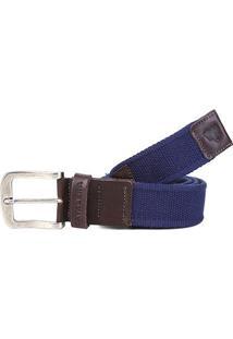 Cinto Cavalera Luda Masculino - Masculino-Marrom+Azul
