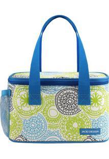 Bolsa Térmica Com Alça- Azul & Verde Limão- 13X21,5Xjacki Design