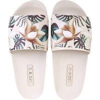 7b9b81c548 Chinelo Azaleia Slide Floral Feminino - Feminino-Off White