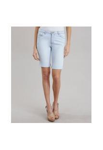 Bermuda Jeans Feminina Ciclista Azul Claro
