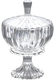 Bomboniere Wolff Cristal Genev 16Cm Branco