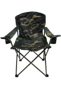 Cadeira Dobrável Com 2 Porta Copos Camuflada Pandera - Nautika