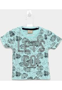 Camiseta Infantil Milon Let'S Go Manga Curta Masculina - Masculino