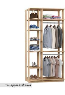 Guarda Roupa Clothes- Carvalho & Mel- 220X111X44,5Cmbentec