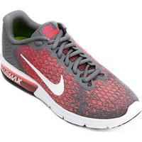 0ebe1bcc6f0 Tênis Nike Air Max Sequent 2 Feminino - Feminino-Cinza+Vermelho