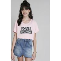 2af314b0e7 Blusa Infantil Cropped Ampla Love Dress