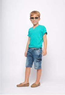 Bermuda Jeans Mrx Jeans Masculina - Masculino-Azul
