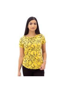 Camiseta Piu Piu Feminina Sideway Amarela