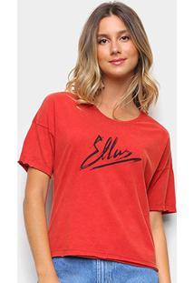 Camiseta Ellus Estampada Feminina - Feminino