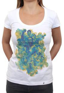 Seleção Brasileira De Futebol Arte - Camiseta Clássica Feminina