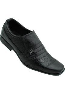 Sapato Social Kipasso Masculino - Masculino-Preto