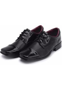 Sapato Social Padrão Infantil Sintético Verniz 441