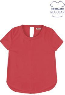 Blusa Básica Feminina Em Tecido De Viscose E Modelagem Regular
