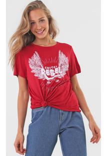 Camiseta Colcci Rebel Vermelha